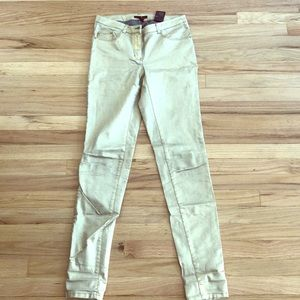 H&m gold jeans size 2